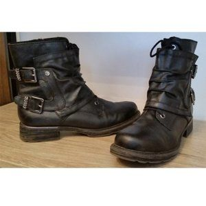Tamaris leather combat ankle boots Germany 39/8.5